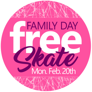 Family Day Free Skate Monday, February 20th
